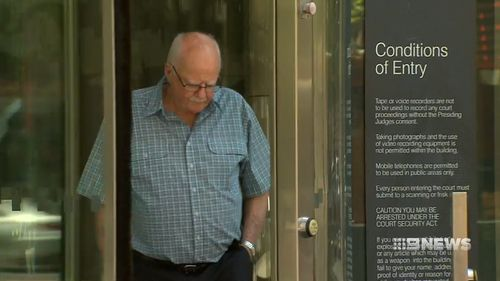Victim Brian Ritchie outside court today.