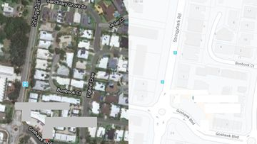 Police say the man was stabbed before he was hit by a car on Stringybark Road.