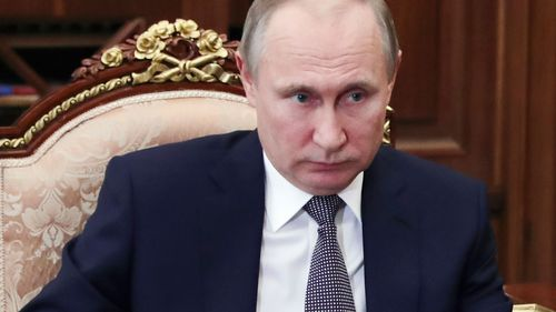 "Russian President Vladimir Putin called the missile strike an ""act of aggression"" (AAP)"