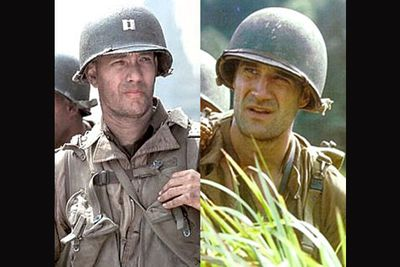 <B>In <I>Saving Private Ryan</I>...</B> A small group of men struggle to deal with the intense violence of WWII while on what's essentially a suicide mission. Not all of them make it out alive. Shocking scenes of war are plentiful.<br/><br/><B>In <I>The Thin Red Line</I>...</B> Various troopers struggle to deal with the intense violence of WWII while on what's essentially a suicide mission. Not all of them make it out alive. Shocking scenes of war are plentiful.