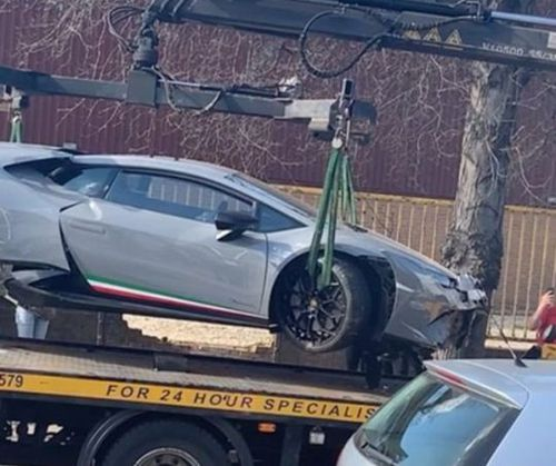 The vehicle could not be driven away (Picture: @london.carspots/Instagram)