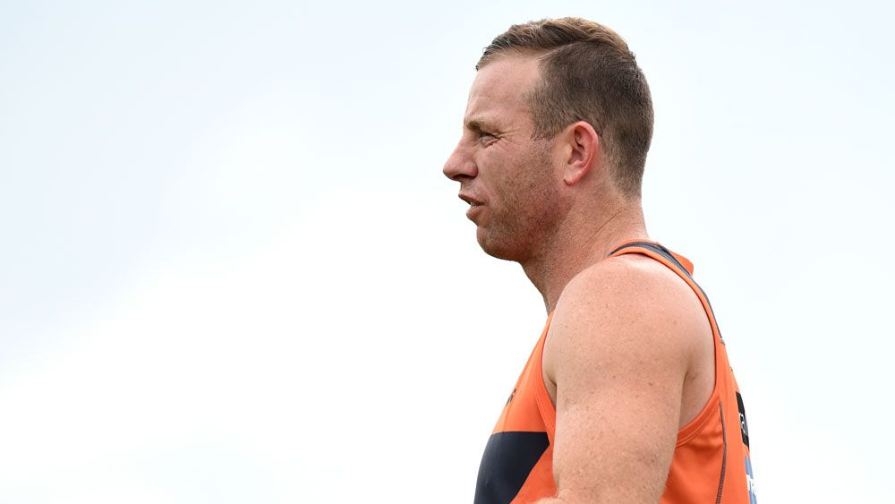 The Giants' Steve Johnson has been rubbed out of his side's preliminary final against the Western Bulldogs.(AAP)