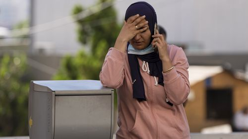 At a hospital in Beirut, where some of the burn victims were brought, Marwa el-Sheikh from Tleil was waiting for word about her brother who was being treated for burns, and her brother-in-law, a retired soldier, who was still missing.