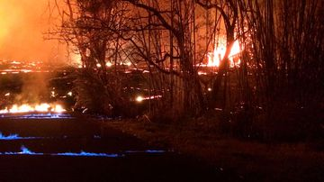 Hawaii's Kilauea volcano is causing blue flames (U.S. Geological Survey)