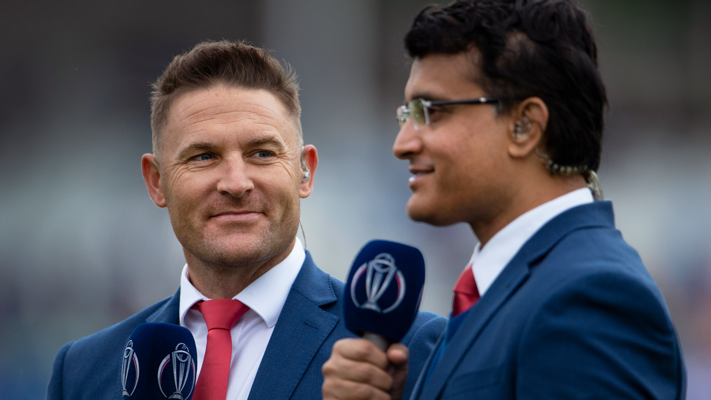 Brendon McCullum and Sourav Ganguly