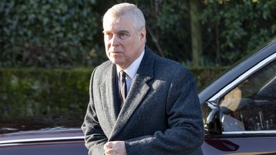 Prince Andrew attending church with Queen Elizabeth