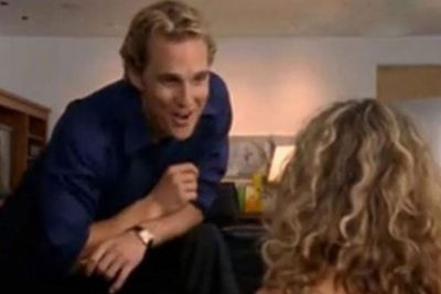 THEN: In season three, Matthew McConaughey was cool enough to play himself. Ok, so maybe a heightened version of himself. <br/><br/>Carrie meets him in LA to talk about turning her sex column into a film, which sees him shouting out Big-inspired phrases at a frightened Miss Bradshaw. <br/><br/>They didn't have make-up sex either, FIXers.