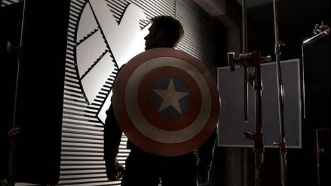 Chris Evans as Captain America in new image released by Marvel Studios. Image credit: Marvel Studios