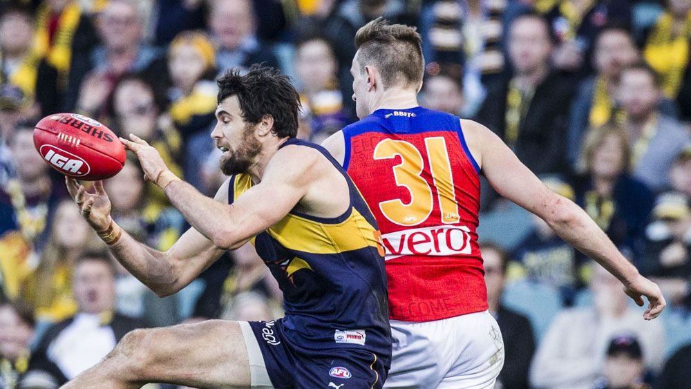 West Coast dominate as Josh Kennedy boots six in Eagles' AFL win over Brisbane Lions
