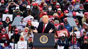 Trump plans battleground blitz despite growing virus worries