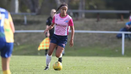Currently, Mary plays for the Bankstown City Lions Football Club in Sydney. Picture: AAP.