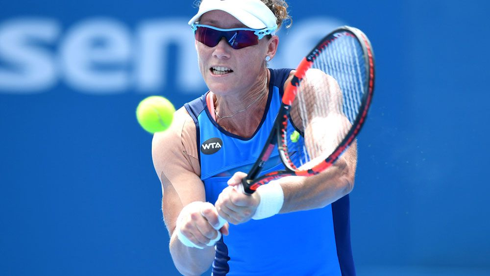 Samantha Stosur is through to the second round of the Qatar Open. (AAP-file)