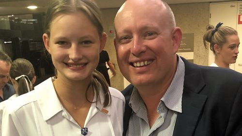 Madison, pictured here with her father Michael Fanshawe, wants to warn others to take their allergies seriously.