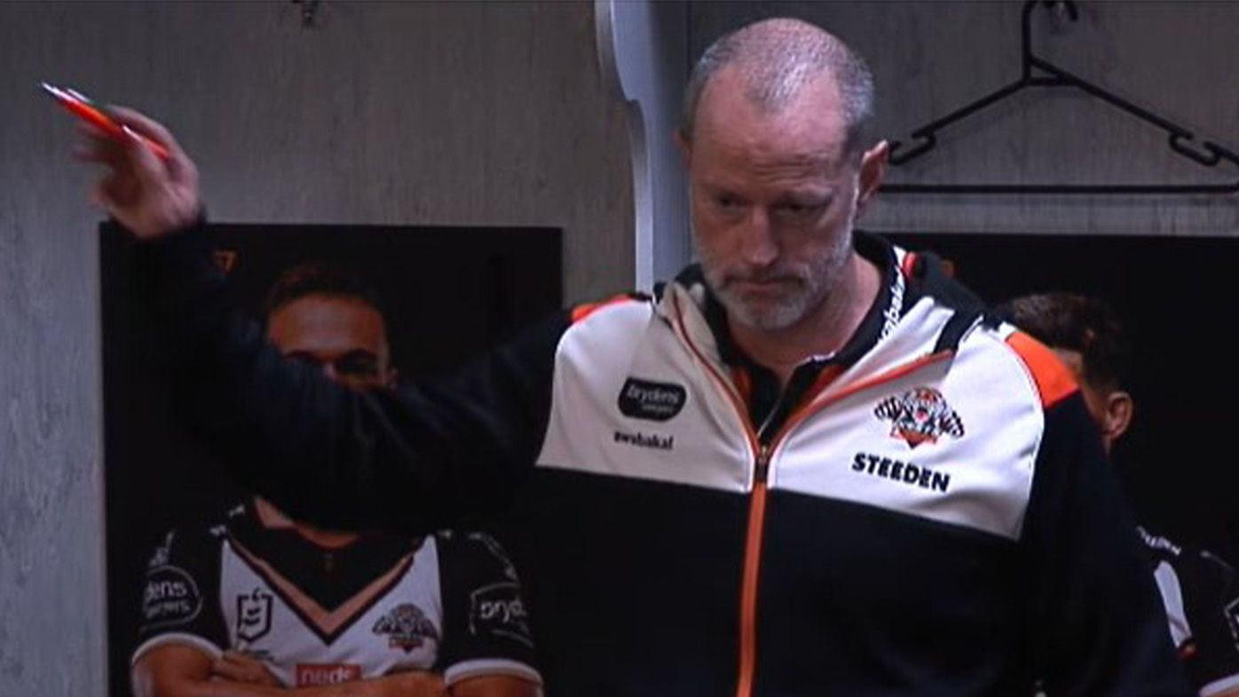 'Disgusted and he should be': Wests Tigers coach Michael Maguire's monumental half-time statement