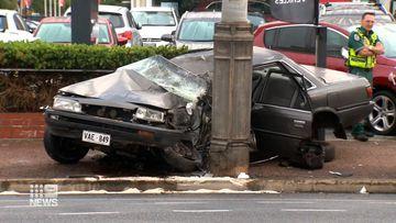 Car 'almost cut in half' in Adelaide crash