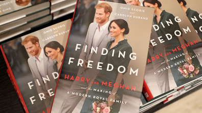Copies of 'Finding Freedom' are stacked up in Waterstones Piccadilly  on August 11, 2020 in London, England. (Photo by Chris Jackson/Getty Images)