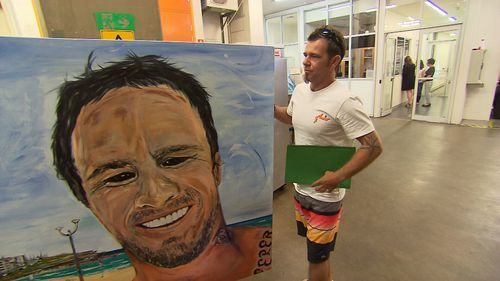 It's former graffiti artist Craig Ervin's third time entering the portrait competition. (9NEWS)