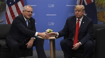 Scott Morrison will call for an end to the US-China trade war.