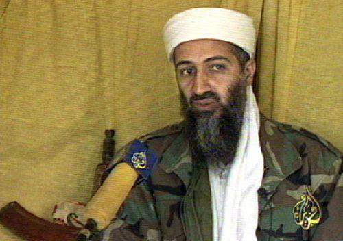 A picture of Osama bin Laden taken from Qatar's al-Jazeera news channel, dated 10 June 1999.