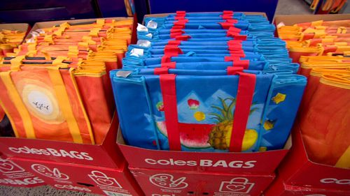 Coles gave customers two months of free bags to adjust to the change.