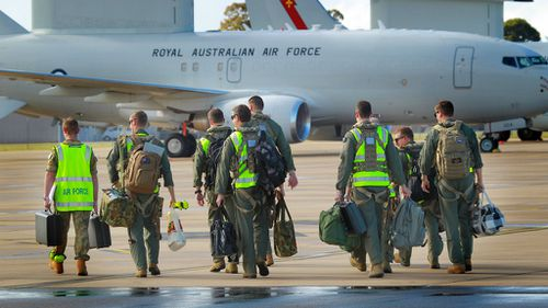 Australian personnel departed the Amberley and Williamstown bases this morning. (ADF)