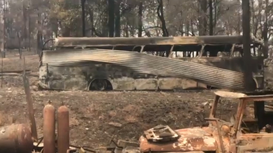 Fire tore through the Bowraville property almost a year ago.
