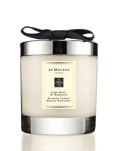 "<a href=""https://www.jomalone.com.au/product/3560/9953/for-the-home/home-candles/lime-basil-mandarin-home-candle"" target=""_blank"">Jo Malone</a> lime mandarin and basil candle, $88"