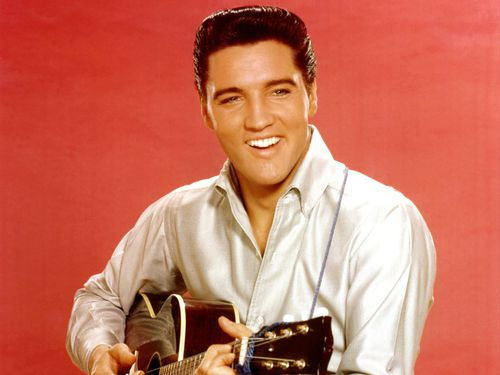 Elvis owned the private jet with his father, Vernon. (Getty)