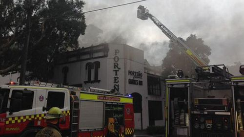 A fire has broken out a Sydney restaurant Porteno. (Fire and Rescue NSW)
