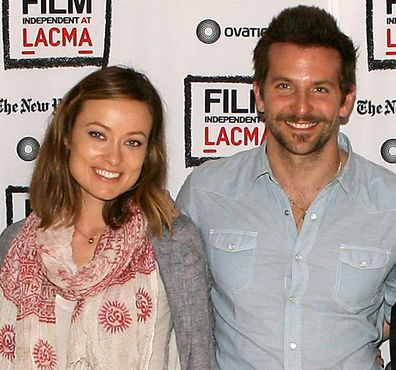 """Olivia Wilde and Bradley Cooper attend the Film Independent at LACMA Live Read of """"Shampoo"""" at Bing Theatre At LACMA on January 19, 2012 in Los Angeles, California."""