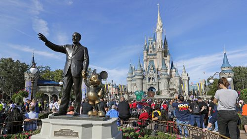 A spokesperson said Disney venues do not tolerate violence after a Florida woman allegedly assaulted a taxi driver over a cigarette.