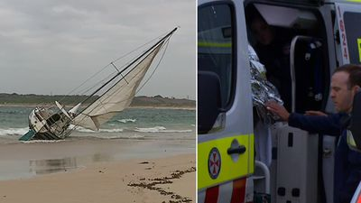 Woman's desperate swim to safety after capsized yacht kills man