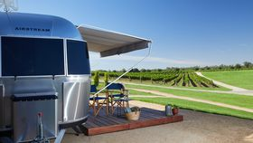Sleep amongst the vines at this luxury Airstream hotel in Victoria