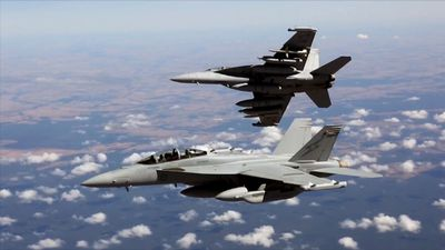 RAAF fighters make spectacular return to sky after Growler fire