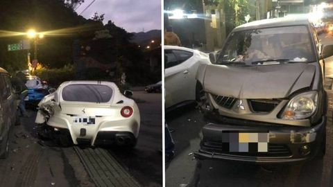 The 20 year old hit three supercars