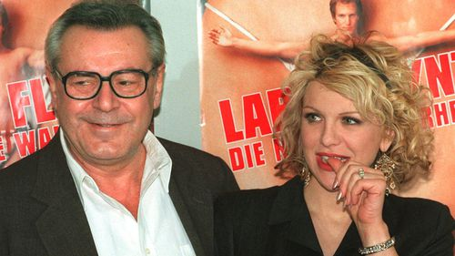 """American actress Courtney Love starred in Forman's film """"The People vs Larry Flynt"""" in 1997. (AP)"""