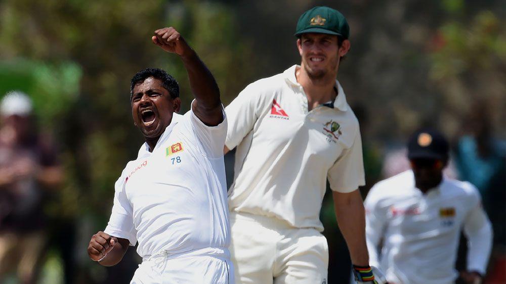 Herath hat-trick sinks Aussies in Galle