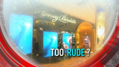 Too rude?