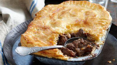 """Recipe:&nbsp;<a href=""""http://kitchen.nine.com.au/2016/05/16/10/51/steak-and-kidney-pie"""" target=""""_top"""">Steak and kidney pie<br /> </a>"""