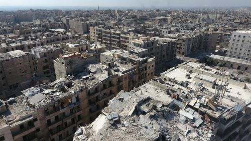 The besieged Syrian city of Aleppo. (AFP)