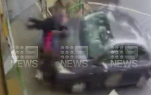 Confronting video of woman rammed by car outside Montmorency coffee shop