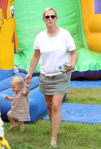 Lena Tindall seen walking with mother Zara