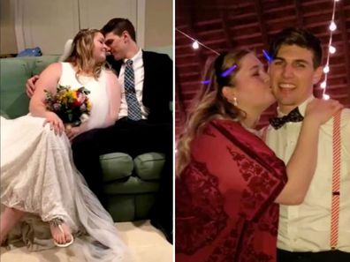 Woman hits back at trolls who say husband is 'too hot for her'