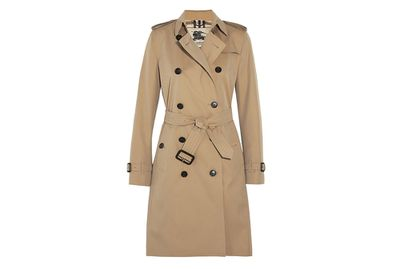 <p>A Burberry trench</p>