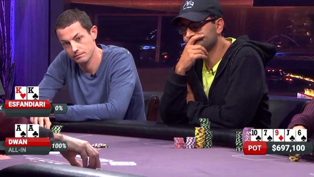 Poker star Tom Dwan crushes Antonio Esfandiari to win $800,000 in five minutes