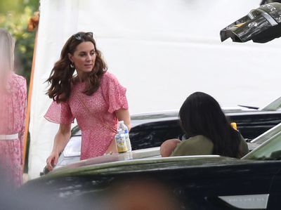 The Duchesses attend the polo with their children
