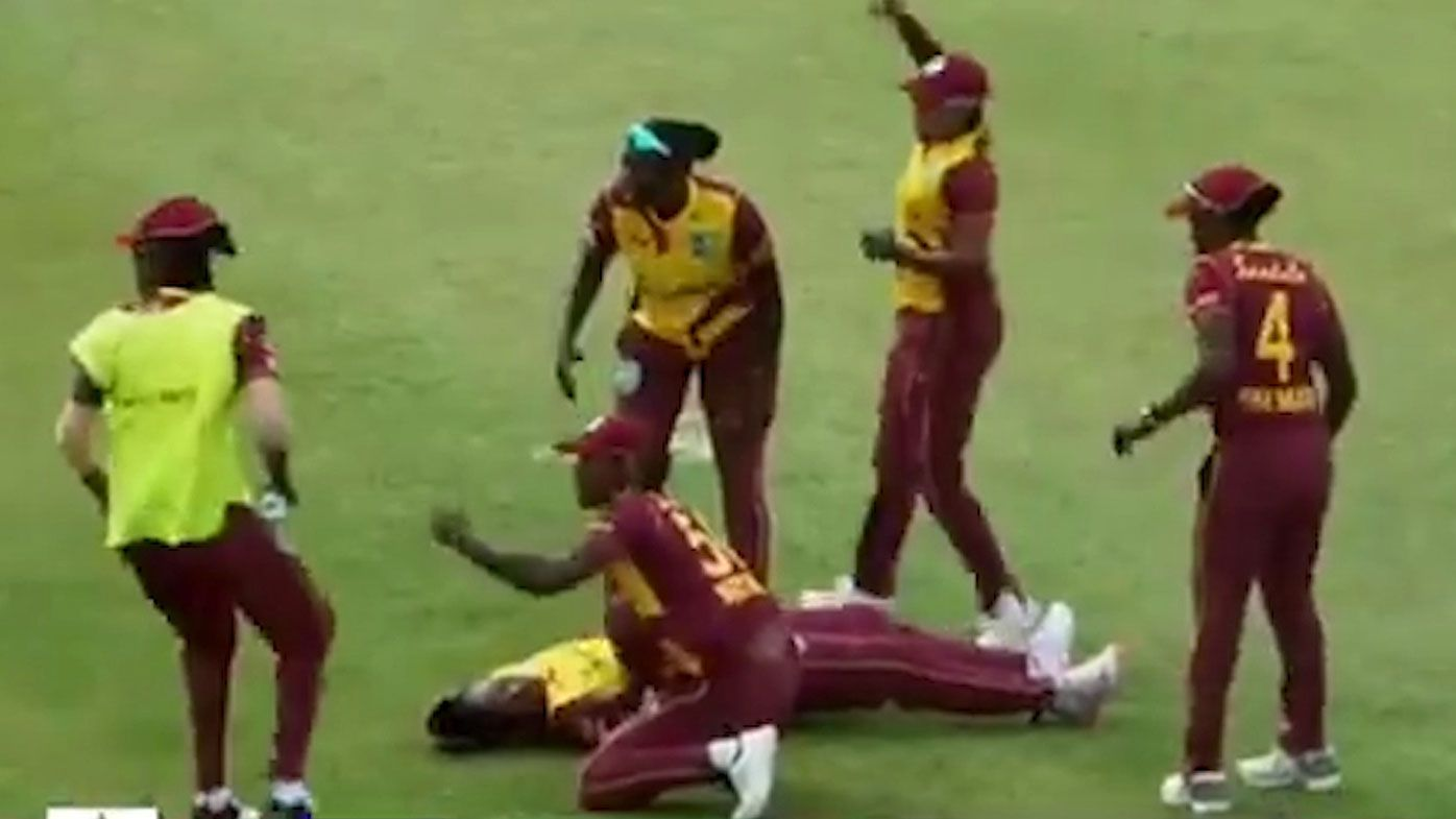West Indies duo 'conscious and stable' after on-field collapse during T20 match