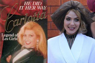 Left: Carol Byron aka Carlotta / Right: Jessica Marais