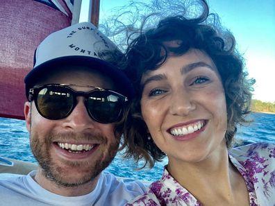 Zoë Foster Blake and Hamish Blake on holiday