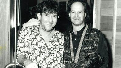 Jimmy Barnes and Michael Gudinski in the 1990's.